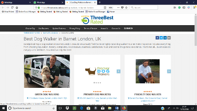 webpagep Best Dog Walkers on London - Top Picks Jan 2018